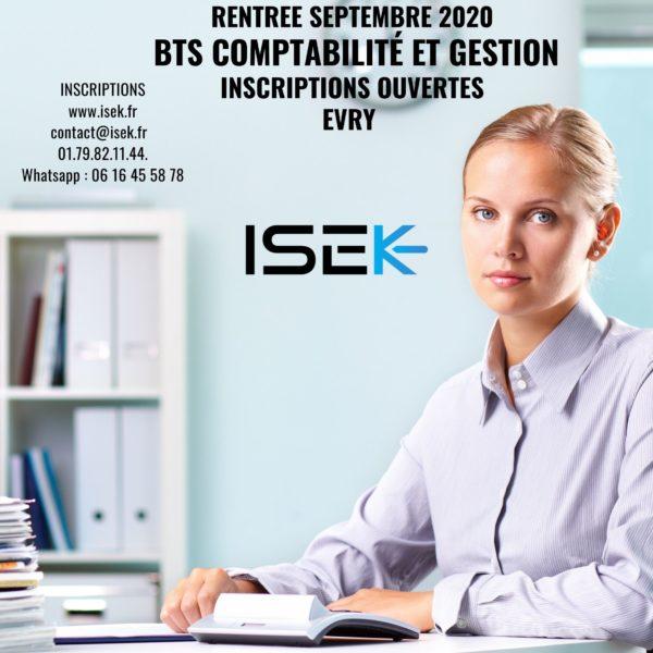 BTS CG Rentrée Septembre 2020 comptabilite gestion isek evry alternance essonne