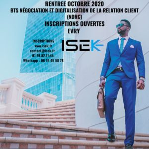 BTS Négociation et digitalisation de la relation client Alternance Evry essonne
